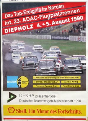 "DIEPHOLZ  DTM / F3  1990 August  4/5 Poster 26 x 19"" ( 607 X 408mm)"